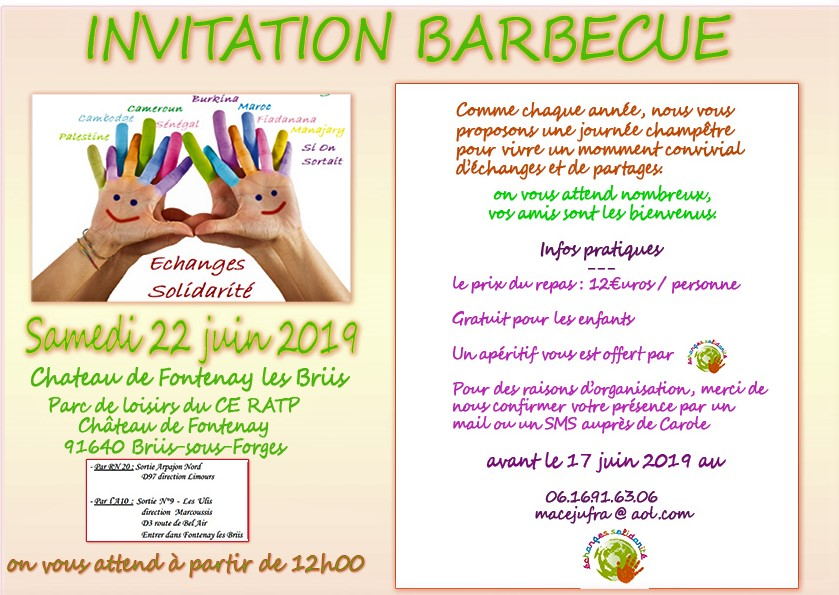 invitation barbecue 22 juin 2019